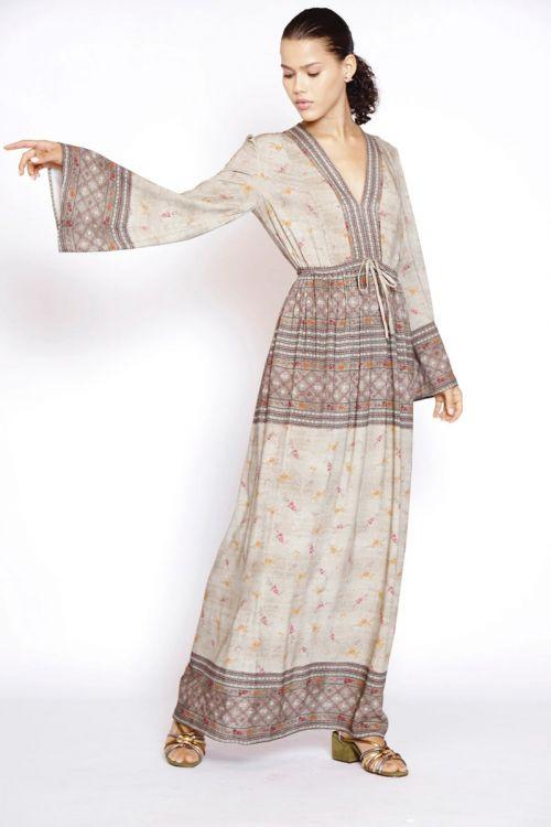 Vestido Longo Estampado Lyberty Floral - Fabiana Milazzo