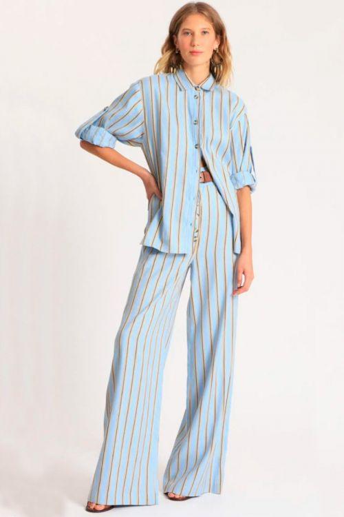 Camisa Acacia Gil Azul - NK