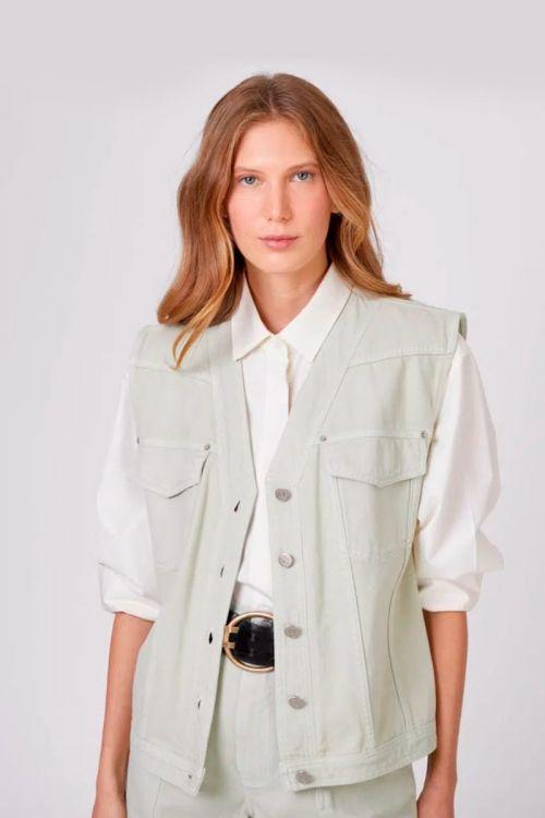 Camisa Colete Sarja Camila Verde - NK