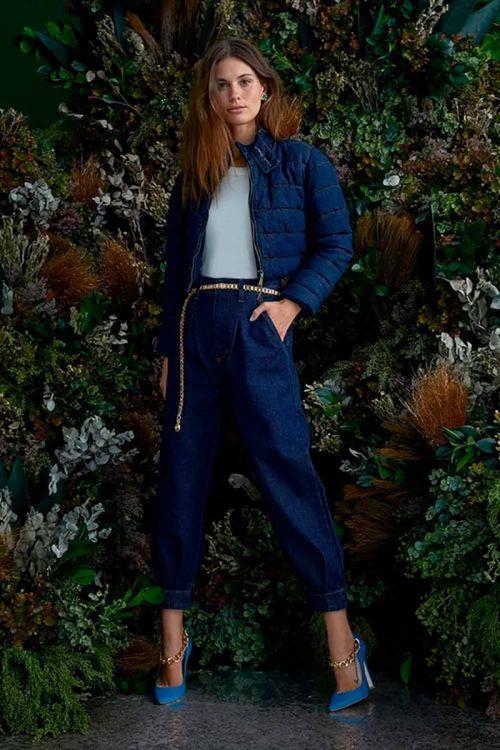 Jaqueta Puffer Elisa Jeans Indigo - NV
