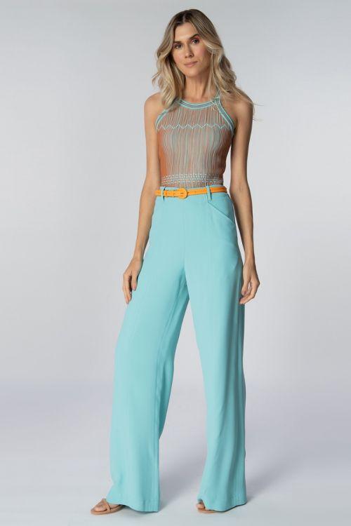 Calça Alfaiataria Pantalona Arara Jade - Lolitta
