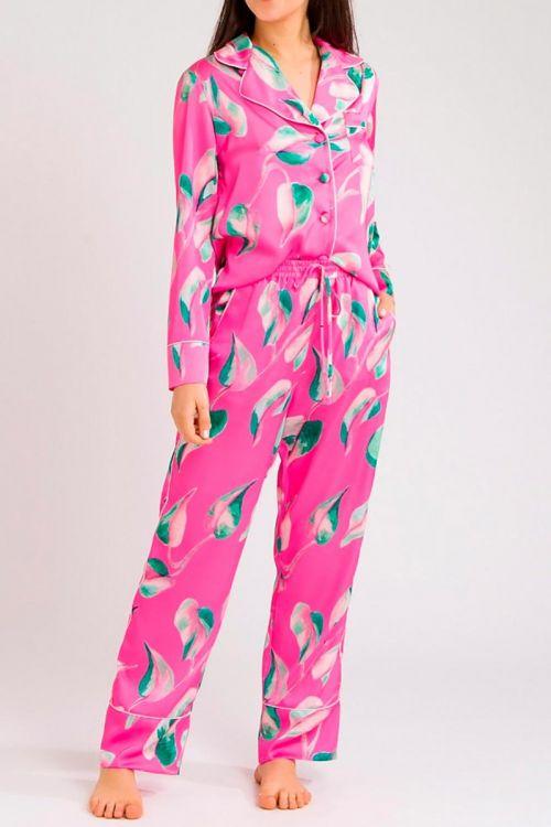 Pijama Longo Floral Pink - PatBo