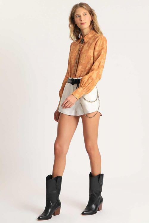 Shorts Linen Jane Helo Off White - NK