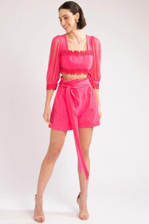 Shorts Faixa Pink - PatBo