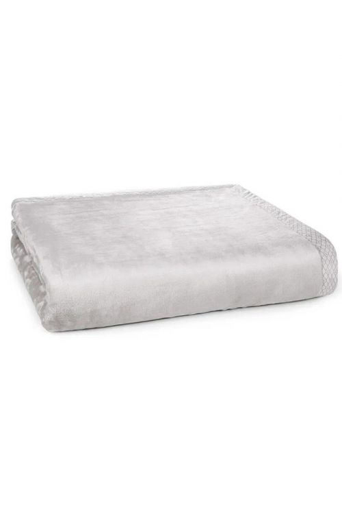 Cobertor Queen - Aveludado Piemontesi  Platino Bege 240cm x 260cm