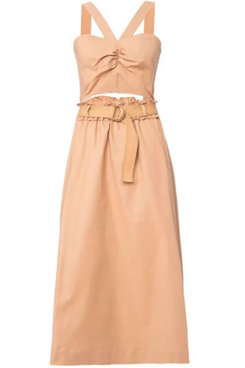 Vestido Cotton Soft Jared Bege Dourado - NK