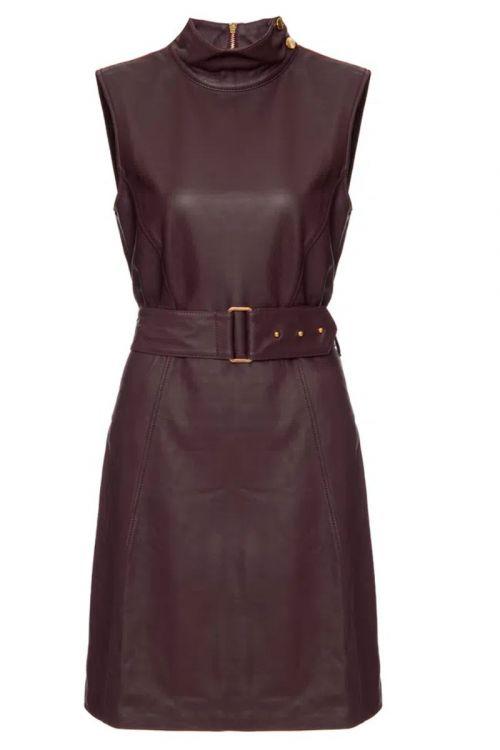 Vestido Gola Alta com Cinto Mulberry - Juliana SanMartin
